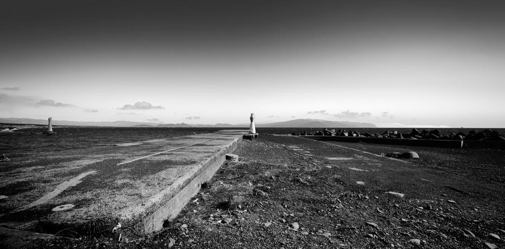 田子の浦 田子の浦港 西灯台と東灯台