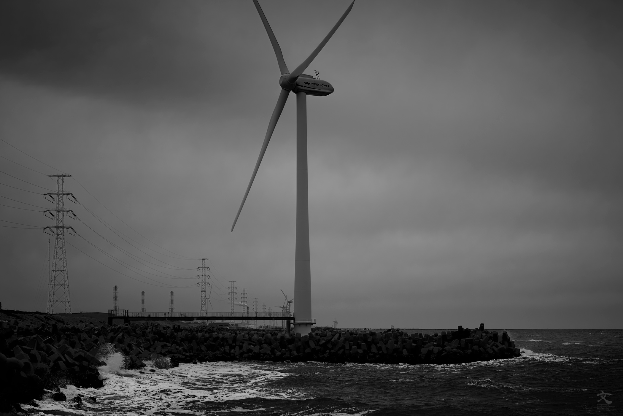 海景 Wind power Part 5. 20170331_3970 Kashimanada