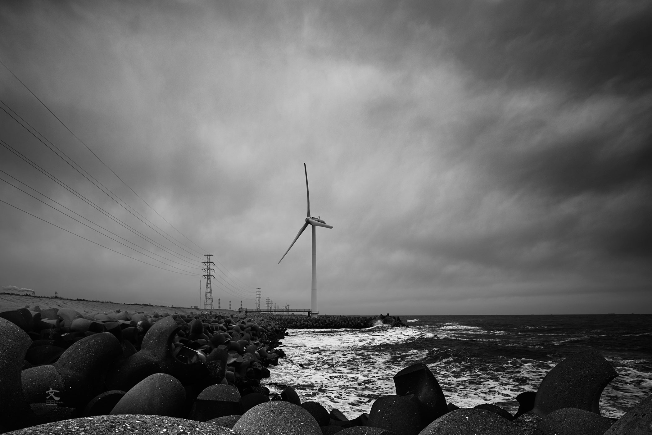海景 Wind power Part 3. 20170331_7997_2 Kashimanada
