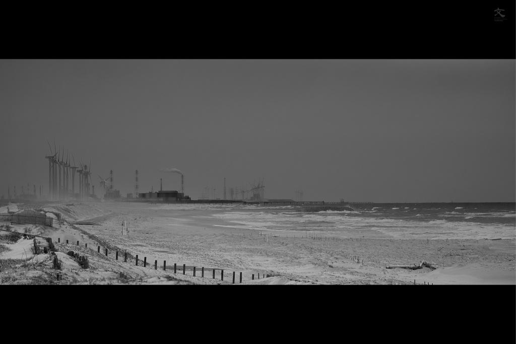 鹿島灘 風力発電 砂丘 加藤文宏 オリジナルプリント