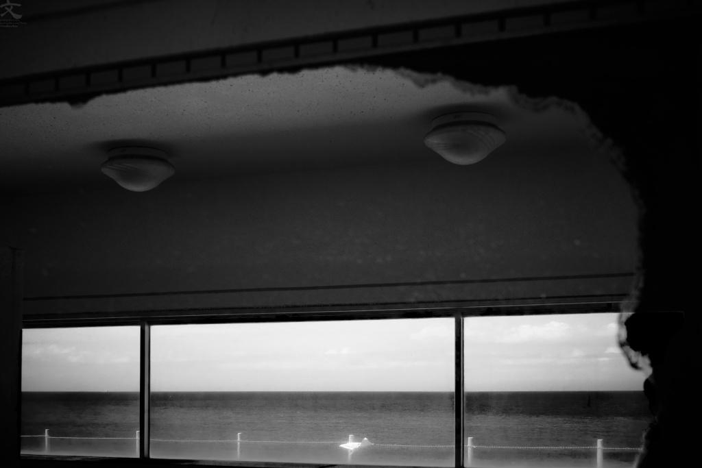 海景 大洗 鏡像 加藤文宏 オリジナルプリント作品