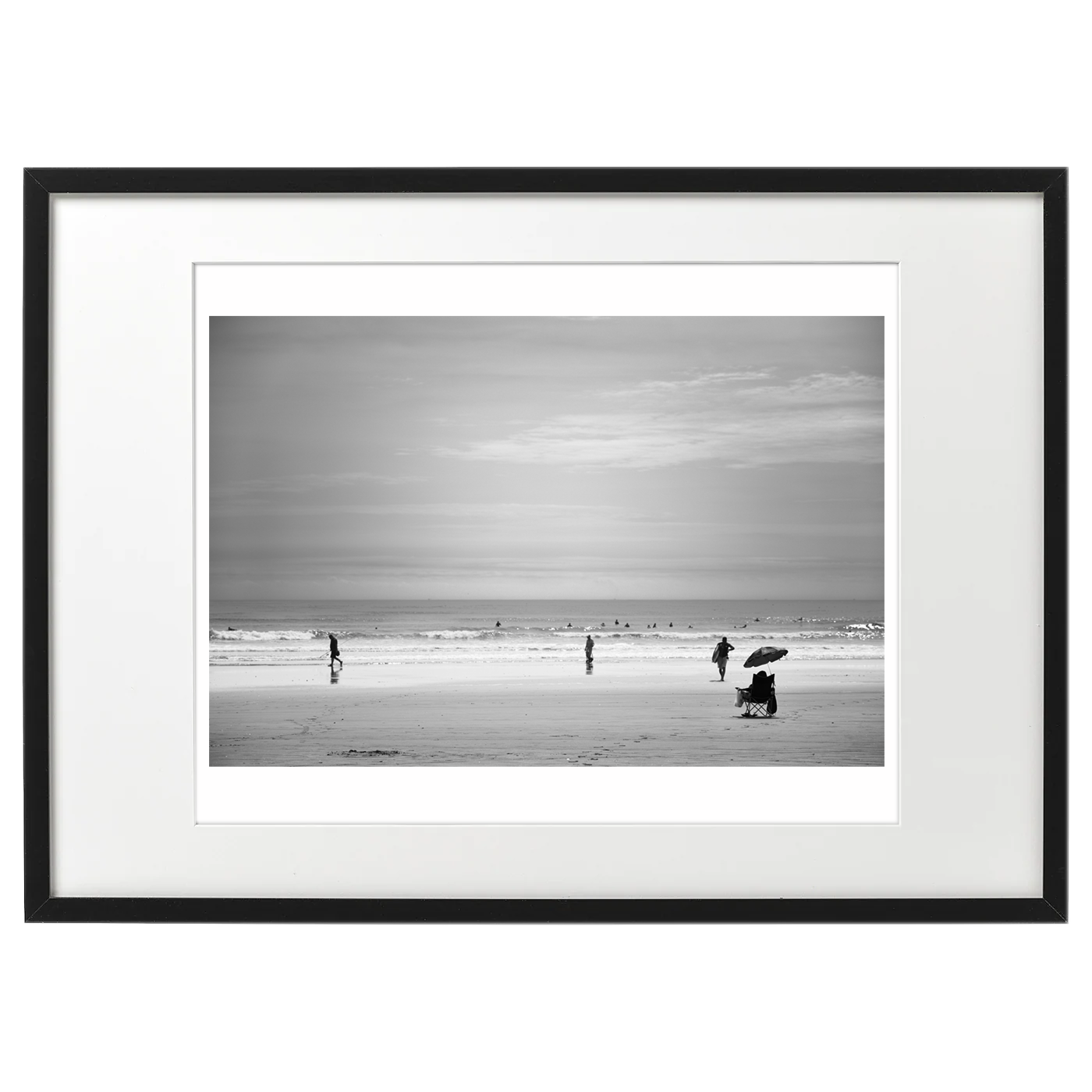 額装いメージ海景 20-008 渚にて / On the beach