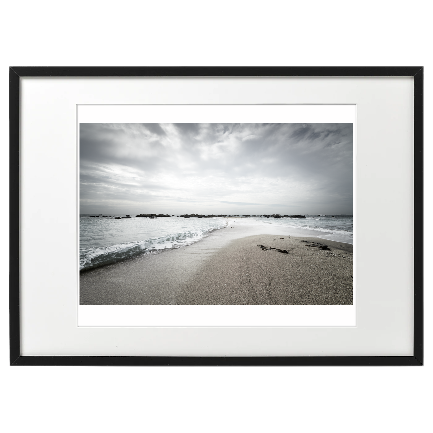 フレーム海景 20-024 砂州、向き合う波