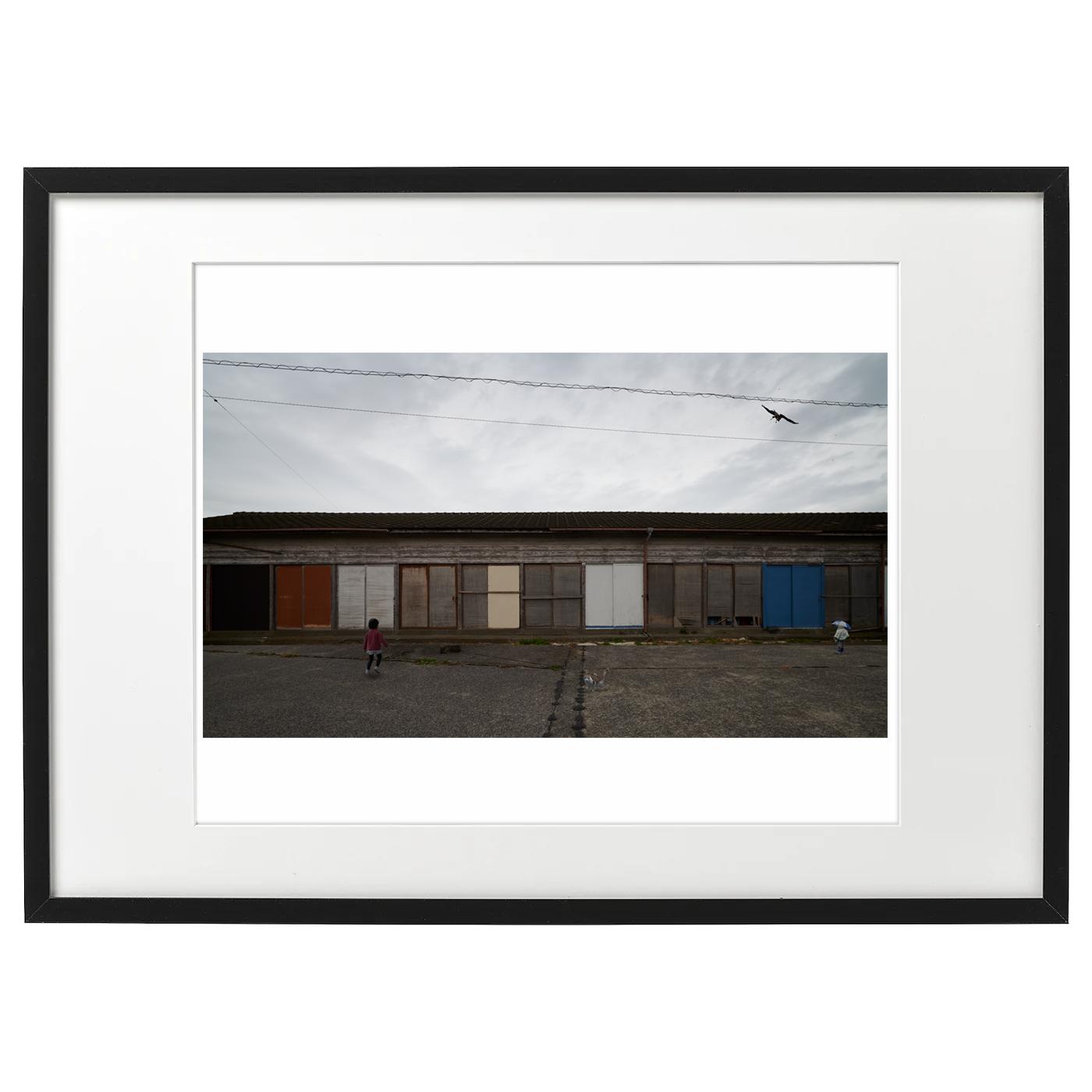 額装海景 20-045 漁具倉庫